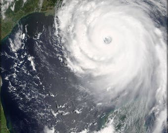 Poster, Many Sizes Available; Hurricane Katrina Near Peak Strength On August 28, 2005