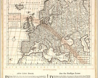 Poster, Many Sizes Available; Solar Eclipse Map 25 July 1748