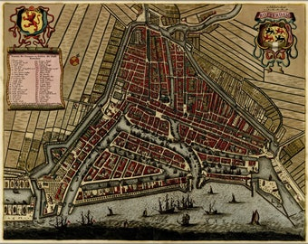 Poster, Many Sizes Available; Map Of Rotterdam, Holland, Netherlands 1709