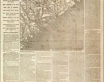 Poster, Many Sizes Available; Nyh 1862 Movement Near Charleston, South Carolina