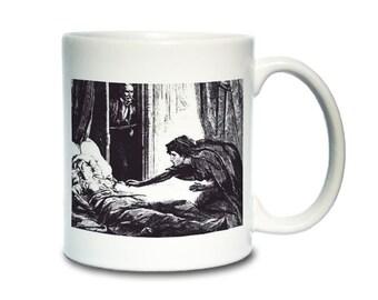 Coffee Mug; Carmilla Lesbian Vampire The Dark Blue By D. H. Friston, 1872