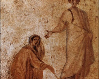 Poster, Many Sizes Available; Healing Of A Bleeding Women Marcellinus Peter Catacomb