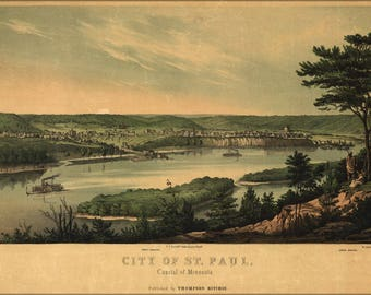 Poster, Many Sizes Available; Map Of City Of St. Paul, Minnesota 1853