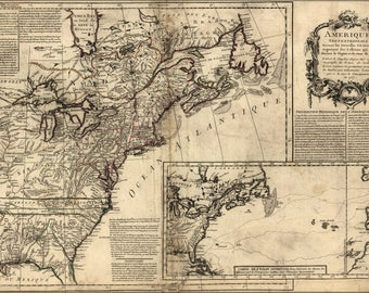 Poster, Many Sizes Available; Map Of North America Pre United States  1757 P10
