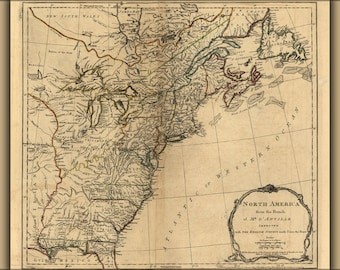 Poster, Many Sizes Available; 1775 Map Of North America United States Colonies