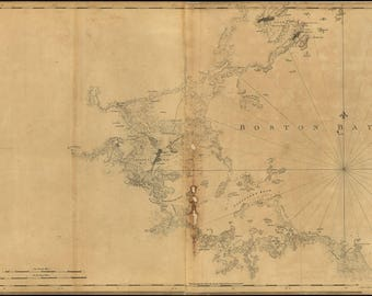 Poster, Many Sizes Available; Map Of Boston Bay And Vicinity 1776