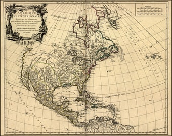 Poster, Many Sizes Available; Map Of North America Pre United States  1758