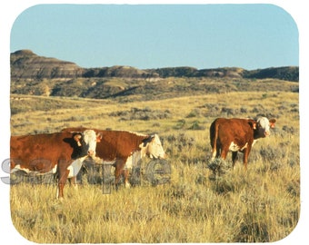 Mouse Pad; Hereford Cattle  Montana
