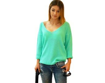 Sweater MODERN | Mint