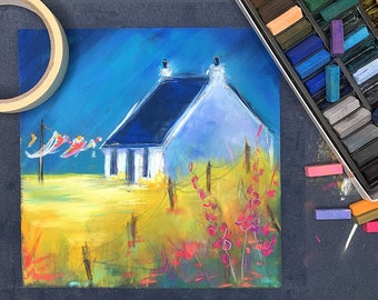 Paint GID DRYIN DAY - online pastel painting workshop step by step tutorial