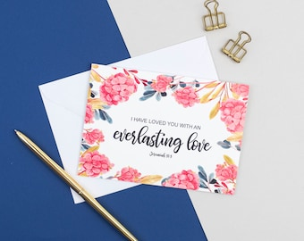 Christian card etsy i have loved you with an everlasting love card jeremiah 313 encouragement card christian cards uk sympathy card friendship card m4hsunfo