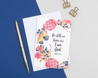 New christian card etsy be still and know that i am god card psalm 4610 encouragement card christian cards uk sympathy card friendship card m4hsunfo