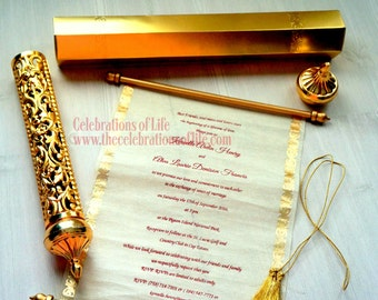 Royal Scroll Invitation UPDATE: Now Available in SMALL Quantities