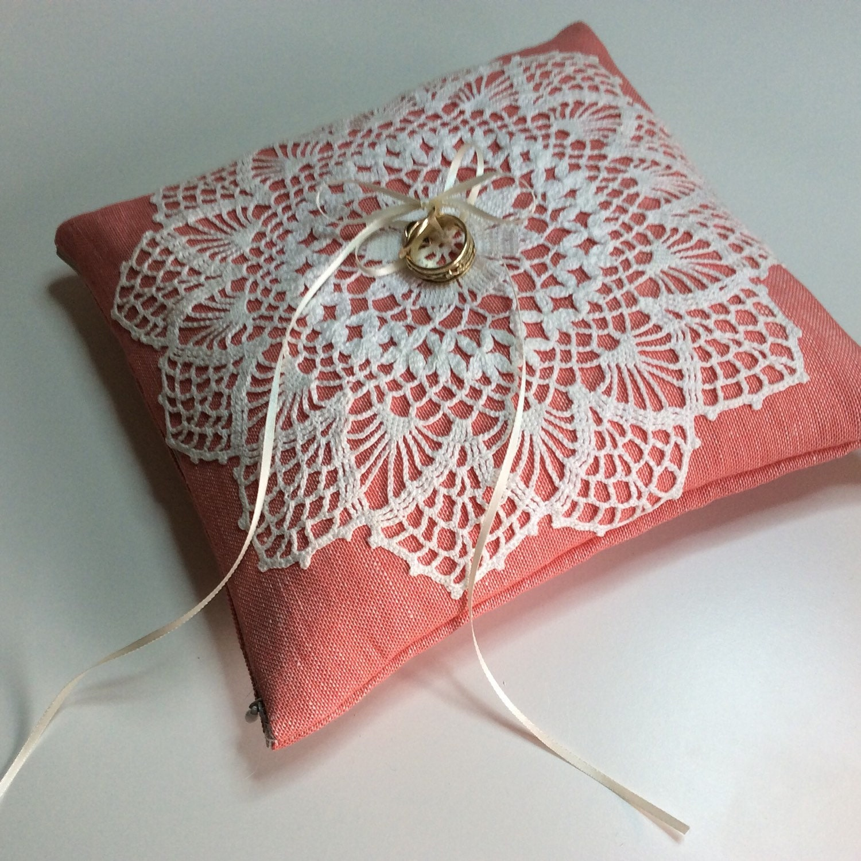 Ring bearing pillow cushion   Etsy