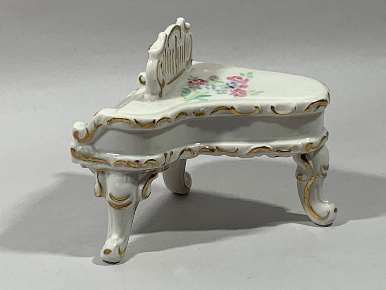 MZ Irish Dresden Porcelain Piano Figurine with Candelabra