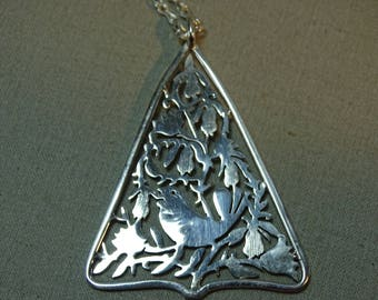 Janna Thomas Sterling Partridge in Pear Tree Pendant with Sterling Chain