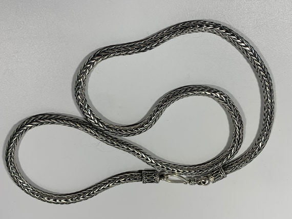 Heavy Sterling Snake Chain Necklace