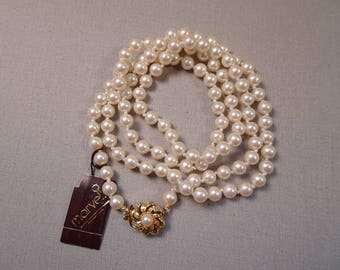 """Marvella 30"""" Faux Pearl Necklace New With Tag"""