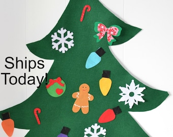 Felt Christmas Tree for pretend play, todder felt tree, kids Christmas tree