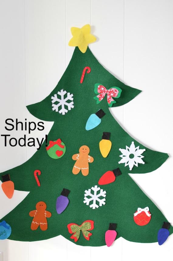 Felt Christmas Tree for pretend play todder felt tree kids   Etsy