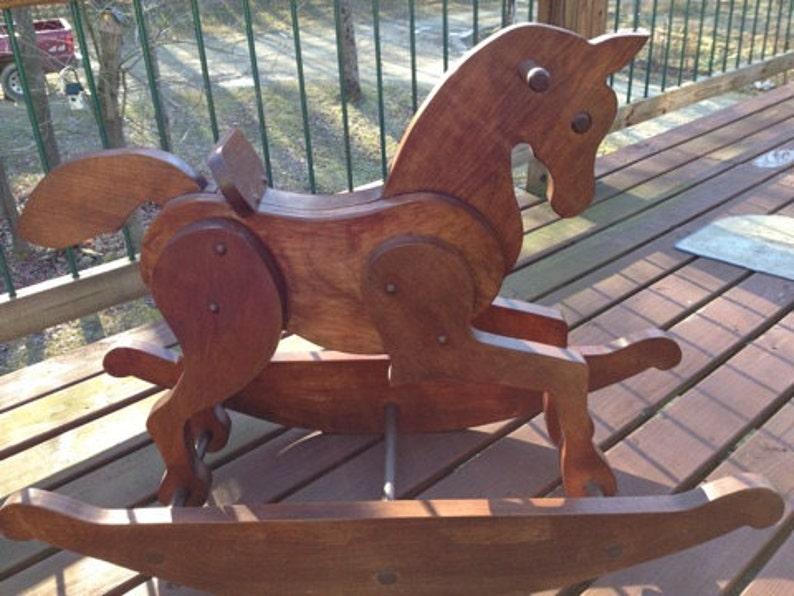 Full Size Rocking Horse Pattern Plan Diy Free Shipping