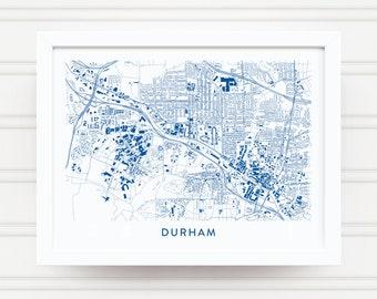 883c8543d15 DURHAM NC Map Print   Duke Blue Devils Gifts   Duke University Gifts   Duke  Alumni Gift   Duke Wall Décor   Durham Decor   Graduation Gift