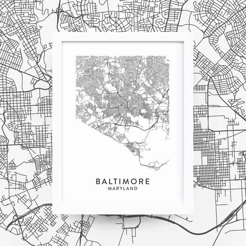 BALTIMORE MD Map Print / Baltimore Wall Art / Maryland Artwork / Wall on map of dc and baltimore, map of dc metro area, map of virginia and washington dc, baltimore maryland area, map of washington dc and surrounding states, map of virginia dc area, map of delaware and baltimore, map of states bordering virginia, map of baltimore's inner harbor, map of baltimore airport area, greater baltimore area, map of seattle area, map of baltimore metro area, map of washington metropolitan area, map of towson md, map of capitol hill washington dc area, map of annapolis md area, map of rockville md, map of pikesville md, map of 21202,