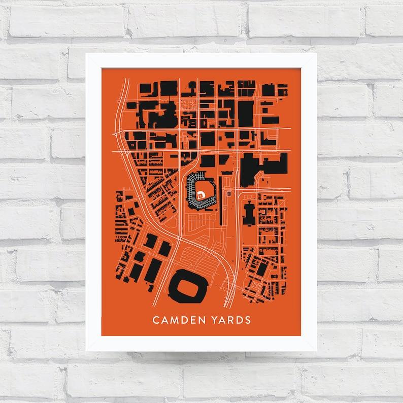 CAMDEN YARDS Neighborhood Map Print / Baltimore Art / Map | Etsy on