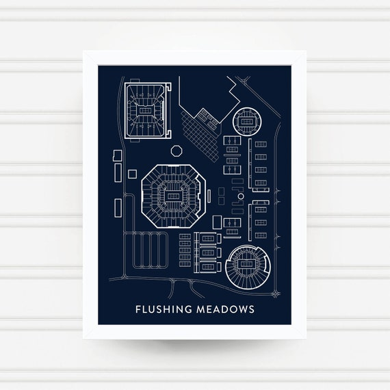 FLUSHING MEADOWS Tennis Print / US Open Gift / Billie Jean | Etsy