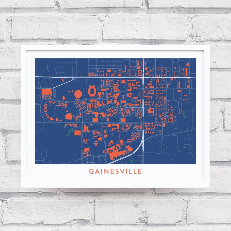GAINESVILLE FL Map Print / University of Florida Gifts / Florida Gators on map of fort white fl, map florida fl, map of olustee fl, map i-75 florida exit numbers, map myrtle beach fl, map of jennings fl, map bell fl, map leon county fl, map sebring fl, map raleigh nc, map oxford ms, map san antonio fl, map st. petersburg fl, map of florida, map jacksonville fl, map of ocklawaha fl, map greenville fl, map of ft. walton beach fl, map jackson fl, map palm springs fl,
