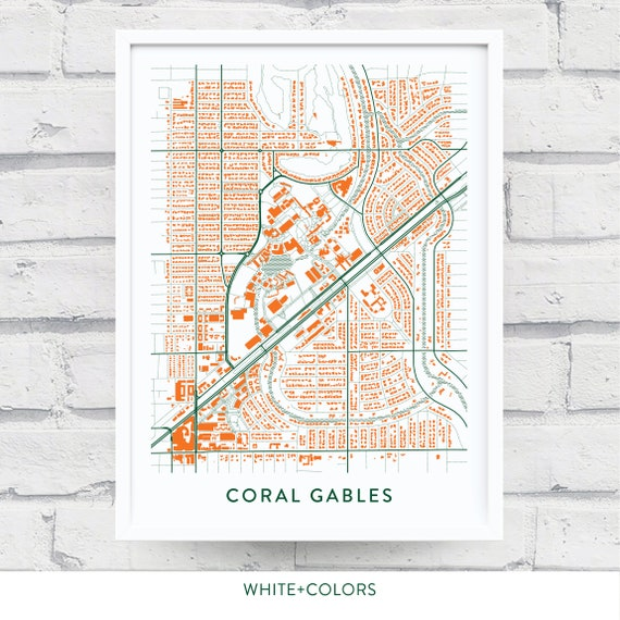 CORAL GABLES FL Map Print / University of Miami Gift / Miami Hurricanes on u of i campus map, siue campus map, university of central missouri campus map, wmu campus map, eastern florida state college campus map, university hospital campus map, smcvt campus map, miller school of medicine campus map, central michigan university campus map, national fire academy campus map, university of montevallo campus map, university of maryland eastern shore campus map, lr campus map, university at buffalo campus map, umich campus map, umd campus map, university of tokyo campus map, university of michigan campus map, barry university campus map,