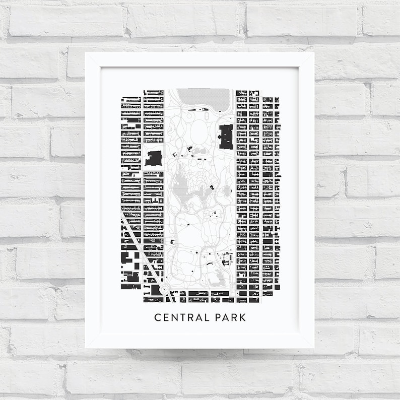 CENTRAL PARK Map Print NYC Home Decor New York City Poster
