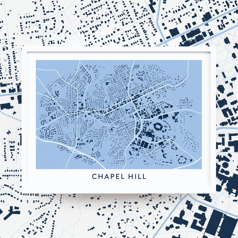 Chapel Hill Map on