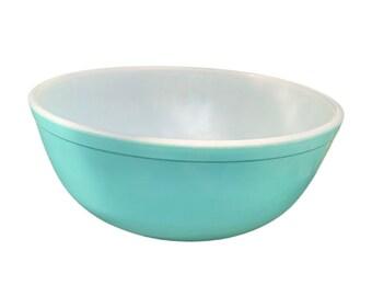 Vintage Aqua Pyrex Mixing Bowl 2.5QT 403 RARE