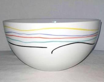 Mixing Bowl,Rainbow Bowl,Studio Nova Bowl,Mixing Bowl,Retro Kitchen,Baking,Primary Colors,Kitchen,Retro Kitchen,Kitsch,MOD,Contemporary