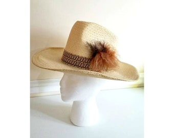 Vintage Western Hat with Feathers 69377997dfe