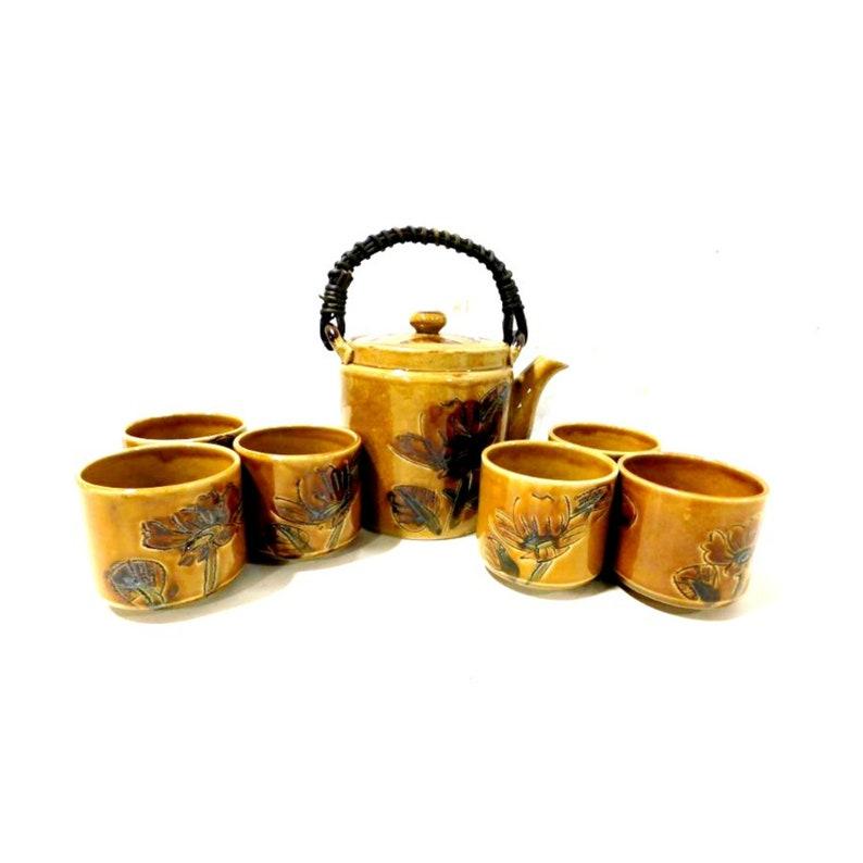 Vintage Stoneware Pottery Tea Set by Otagiri Made in Japan  7 image 0