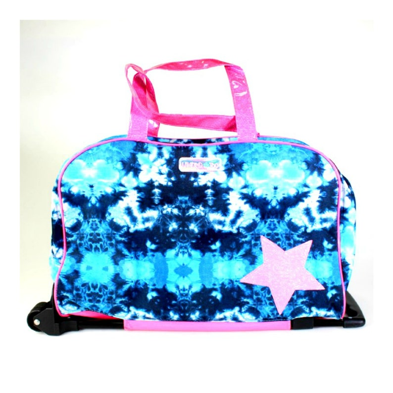 Vintage Limited Too Tie Dye Rolling Bag Carry On Luggage 1990s image 0