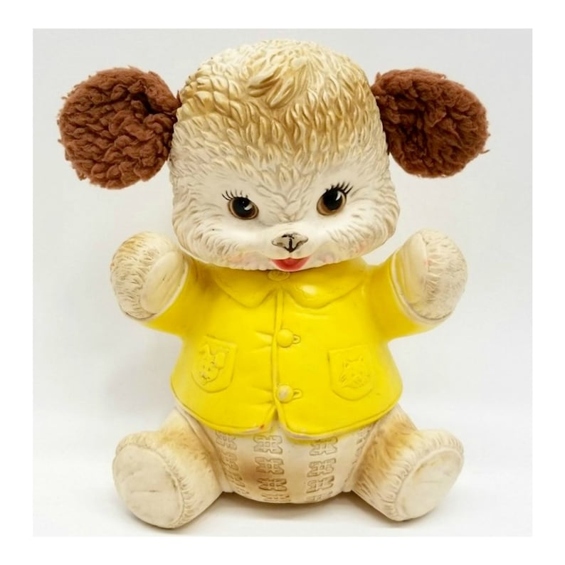 Vintage Kitsch RARE Early Edward Mobley Co 1962 Squeaky Bear image 0