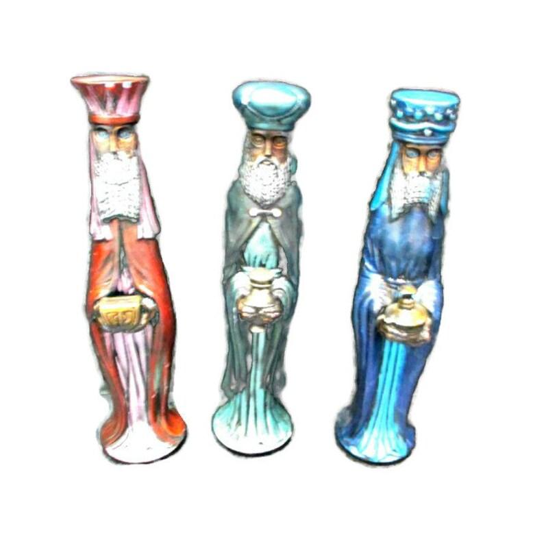 Vintage Three Wise Men Figurines 13 Tall image 0