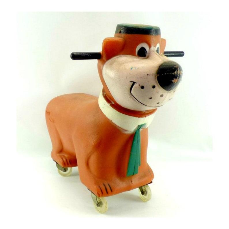 Vintage Hanna Barbera Yogi Bear Ride on Scooter Toy by Buddy L image 0