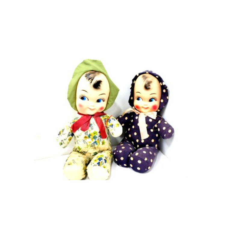 Vintage Carnival Prize Rubber Face Dolls LARGE 20 TALL image 0