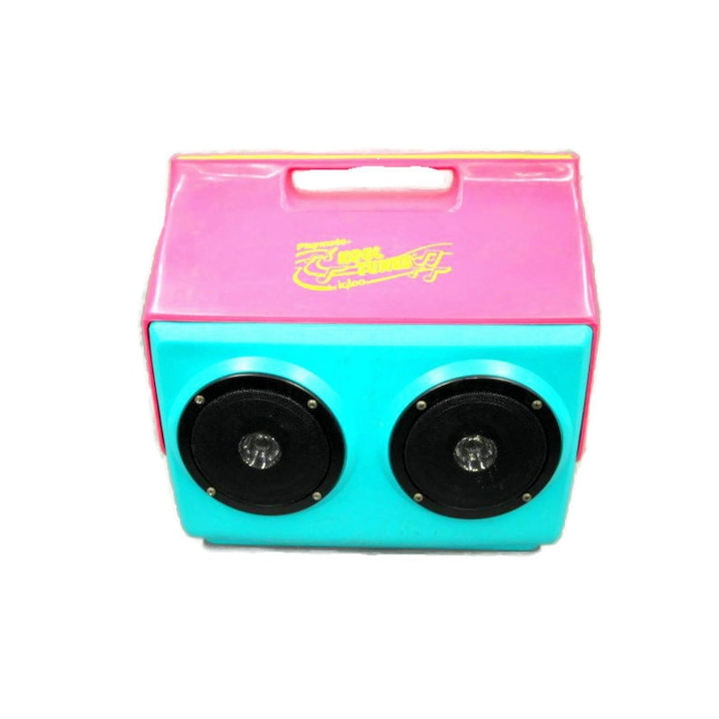 Vintage IGLOO Playmate KOOL TUNES Cooler with Speakers Pink & image 0