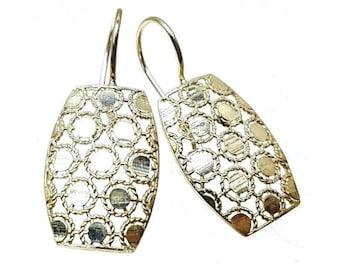 Estate Open Work Sterling Dangle Earrings 925