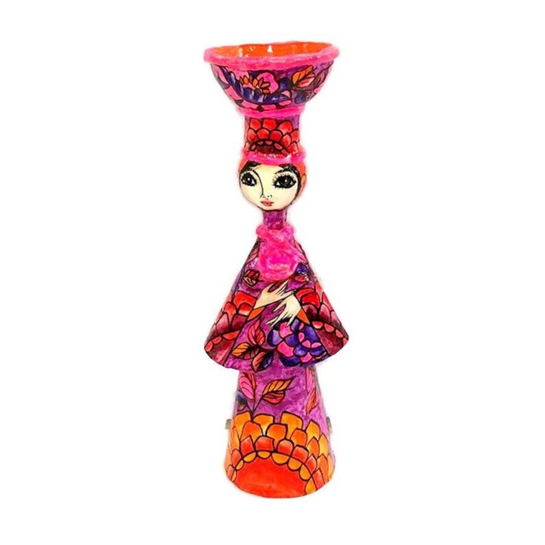 Vintage Mexican Paper Mache Doll by Abelardo Ruiz 12 image 0