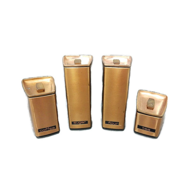 Lincoln Beautyware Copper Tin Canister Set of 4 image 0