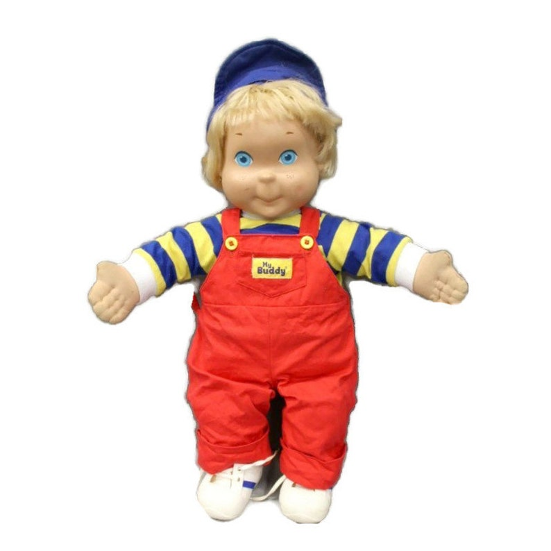 Vintage My Buddy Doll Blonde Hair with Original Clothes Shoes image 0