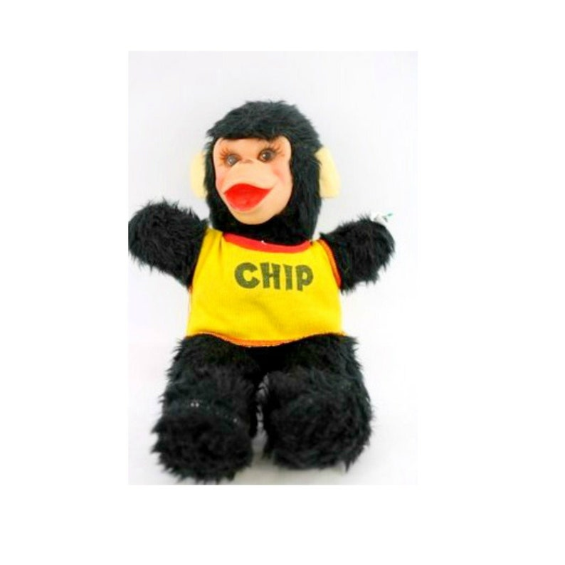 Vintage RUSHTON Rubber Face Monkey Chip Tee Zippy the Chimps image 0