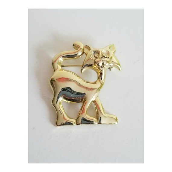 Mid Century Alley Cat Brooch