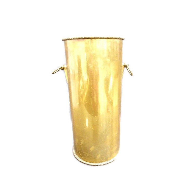 Hollywood Regency BRASS Umbrella Stand with Doorknocker image 0